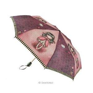 Santoro London Gorjuss Small 3 Section Auto Umbrella-Ladybird