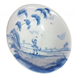 Isis Ceramics Isis Blue Sporting Monkeys - Reginald - Cereal Bowl