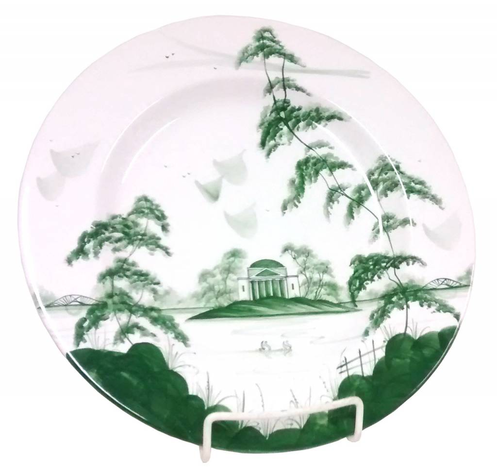Isis Ceramics Isis Green English Garden - The Temple - Dinner Plate ...