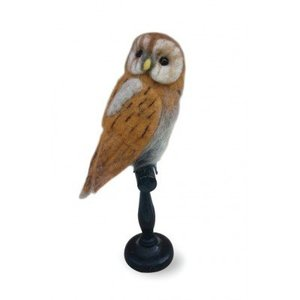 "Sew Heart Felt Felted Animals ""Taxidermy"" Tawny Owl"