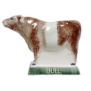 Rye Pottery Rye Bull - Red With White Stripe
