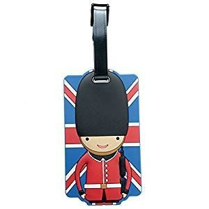 Puckator PVC Luggage Tag-London Union Flag Guardsman