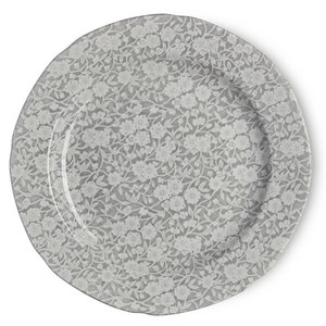 Burleigh Pottery Calico Grey 10.5 in. Plate
