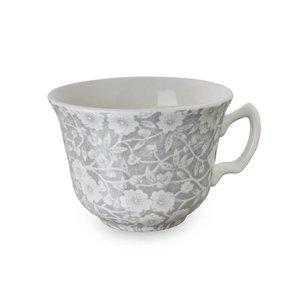 Burleigh Pottery Calico Grey Teacup and Saucer