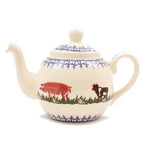 Brixton Pottery Brixton Farm Animals Teapot  - 4 Cup