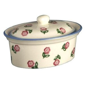 Brixton Pottery Brixton Pottery Rose Butter Dish