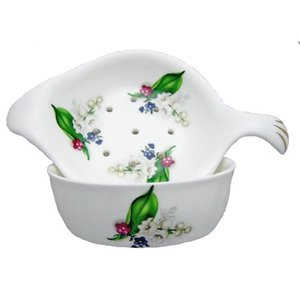 Berta Hedstrom Lily of the Valley Strainer with Bowl