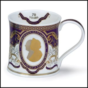 Dunoon Dunoon Wessex Queen Platinum Wedding Anniversary Mug