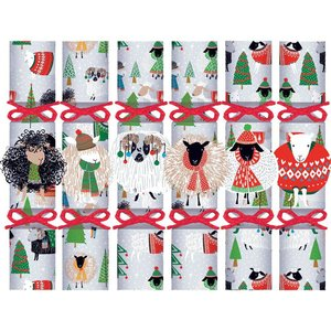 Caspari Caspari Christmas Crackers - Warm and Wooly - 6 Count