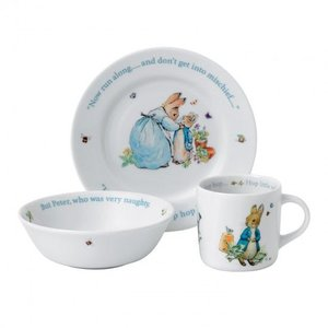 Beatrix Potter Peter Rabbit Boy's Plate, Bowl & Mug 3-Piece Set