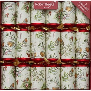 Robin Reed Robin Reed Woodland Robin Party Crackers - 6 Count