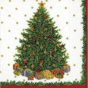 Caspari Caspari Christmas Tree Ivory Luncheon Napkins