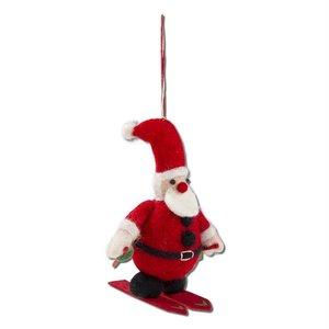 Tag Skiing Santa Ornament