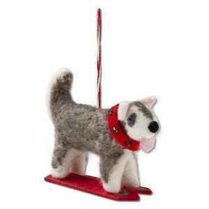 Tag Ski Dog Ornament