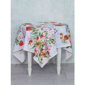 "April Cornell April Cornell Zinnia Bouquet Tablecloth (54""x 54"")"