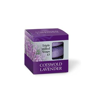 Cotswold Lavender Cotswold Lavender Triple Milled Luxury Lavender Soap Gift Box