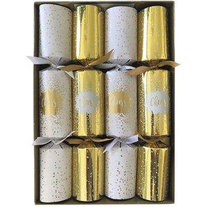 Caspari Caspari Cheers Gold Christmas Crackers