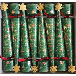 Caspari Caspari Glittering Tree 8ct Christmas Crackers