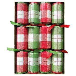 Caspari Caspari Plaid Check Christmas Crackers