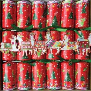 Caspari Caspari Hello Dolli Llama Christmas Crackers