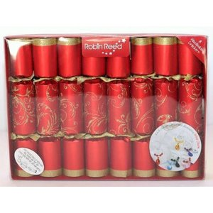 Robin Reed Robin Reed Red Floral Glitter Wine Charm Crackers