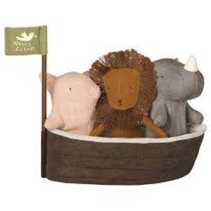 Maileg Maileg Noah's Ark with 3 Mini Animals
