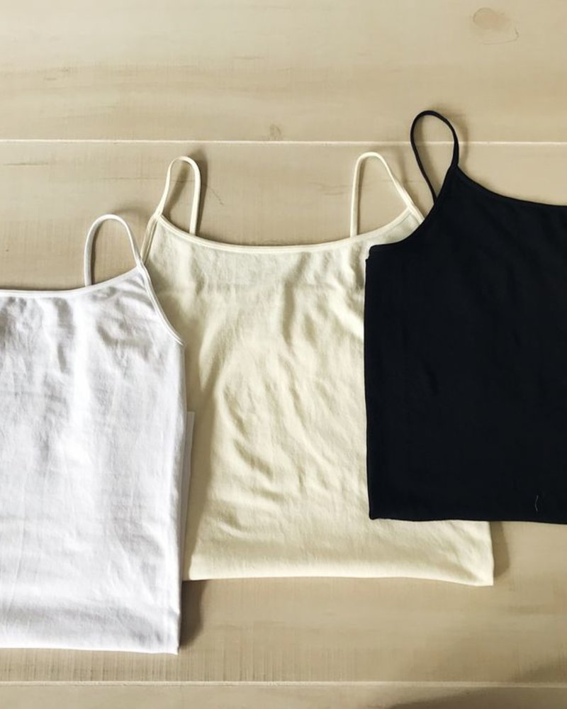 NikiBiki Signature Camisole in Black + White + Ivory
