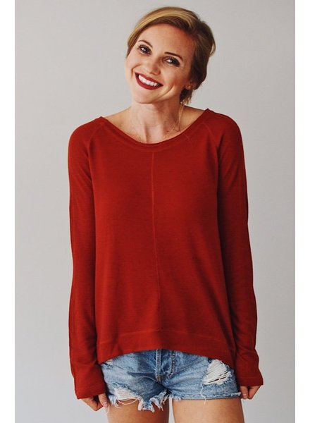 The Katey Long Sleeve Swing Top