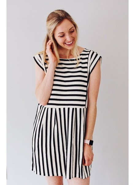 The Nina Stripe Mini Dress