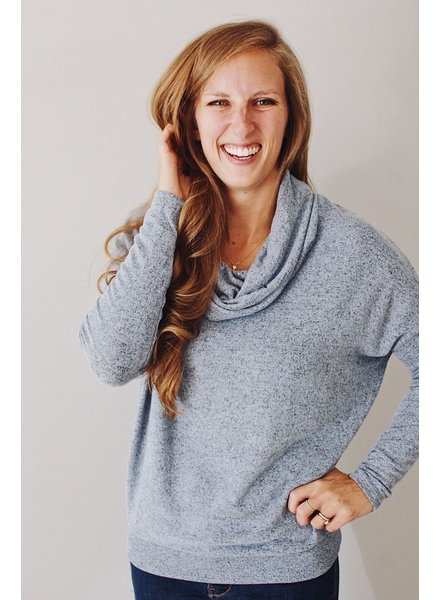 Z-Supply Marled Cowl Neck Sweater
