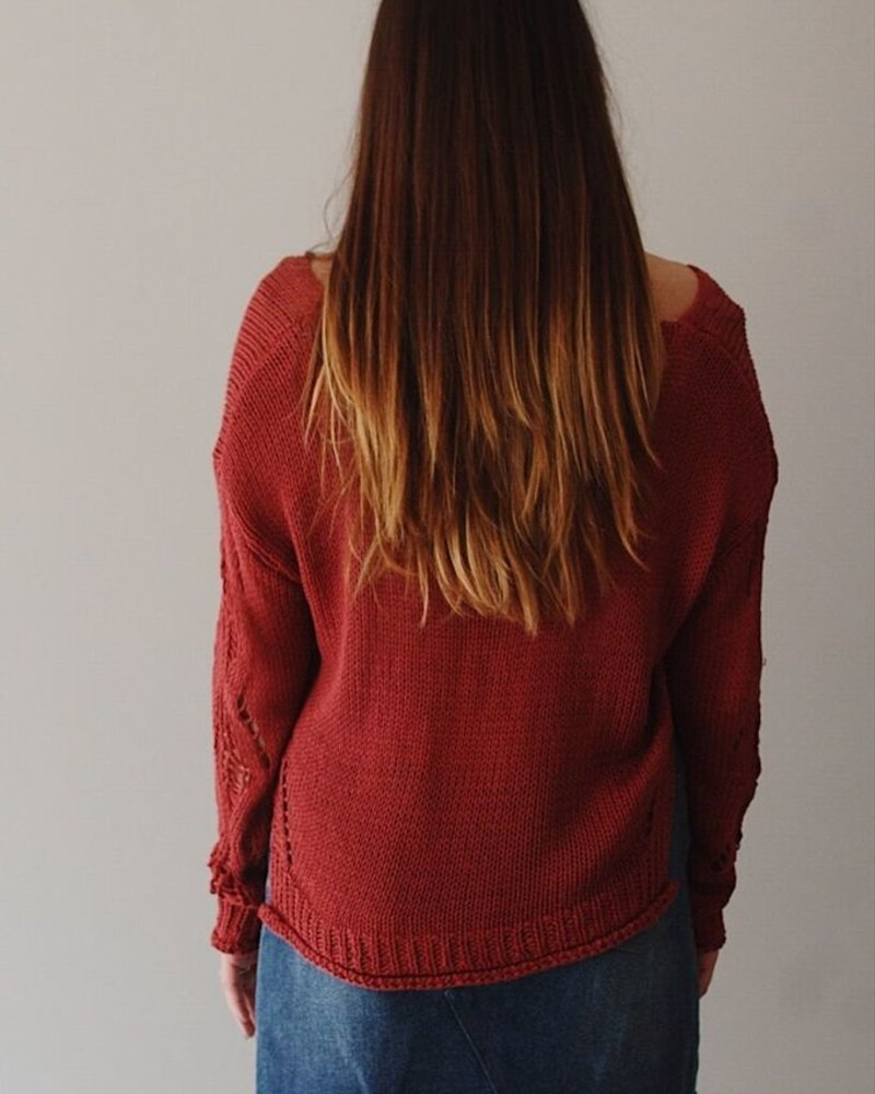 The Bridget Distressed Sweater
