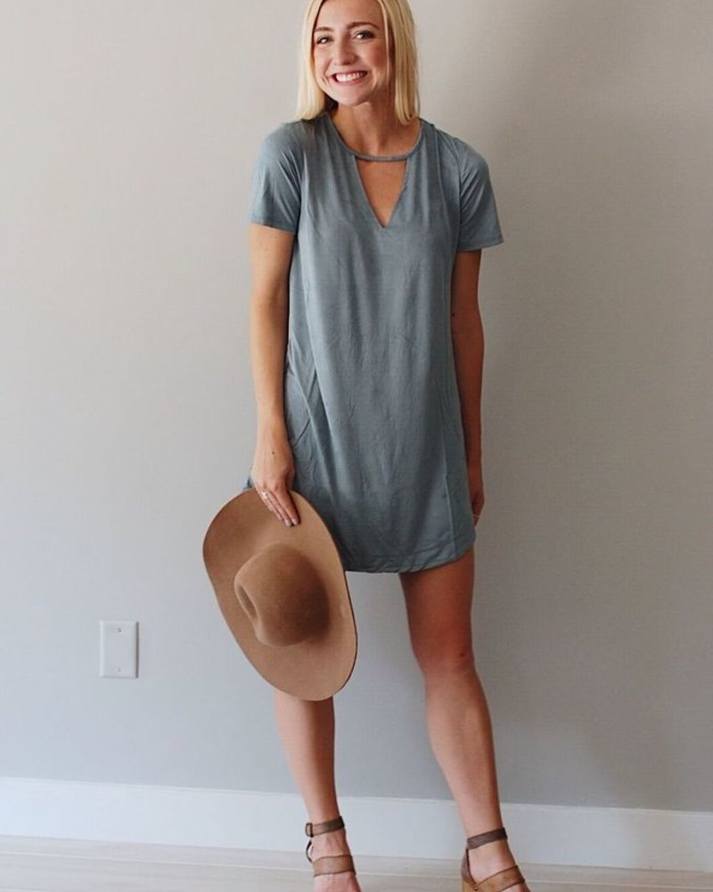 Z-Supply Suede Cut-Out V Neck Dress