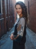 The Ansley Top in Charcoal