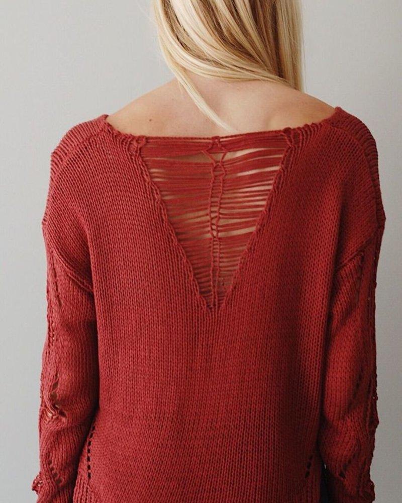 The Bridget Distressed Sweater
