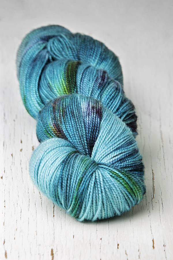 Meadowcroft Dyeworks Rockshelter Sock Blue/Green/Purples -
