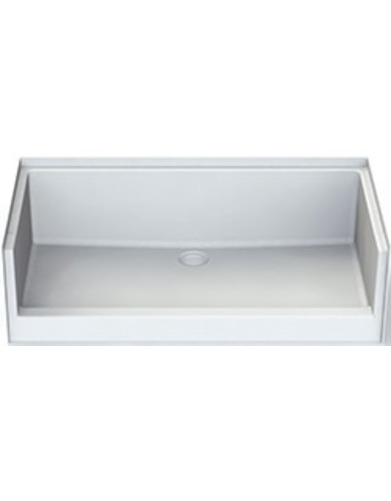 Plumbing Aquatic Fiberglass Tub 27 x 54 Shower Pan, White - MNT Supply
