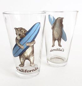 Surf Bear Pint Glass