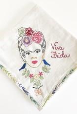 FRIDA KAHLO EMBROIDERED TEA TOWEL