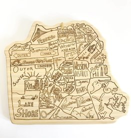 San Francisco City Cutting Board