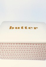 Stoneware Susie Butter Box in Rose