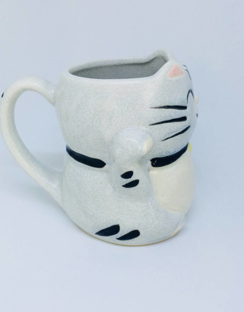 MUG LUCKY SILVER TABBY CAT