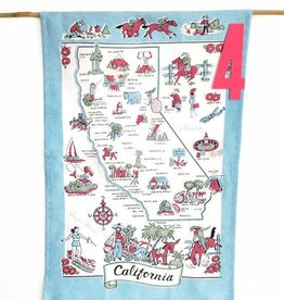 Retro California State Tea Towel