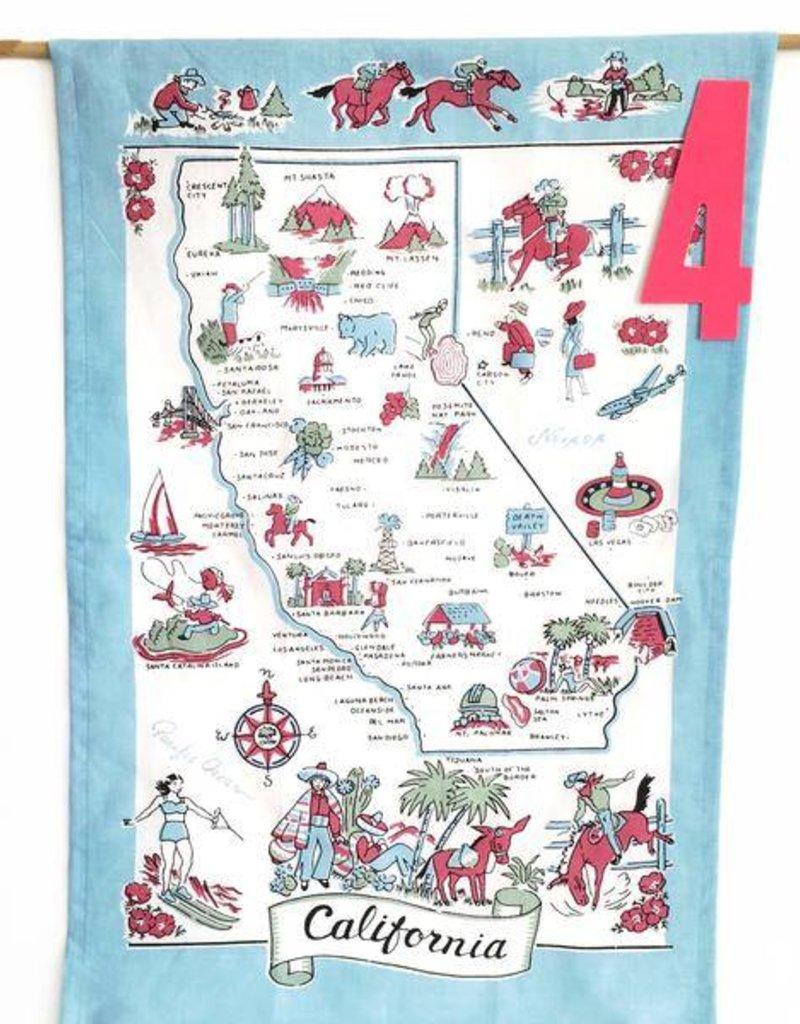 CALIFORNIA STATE TEA TOWEL