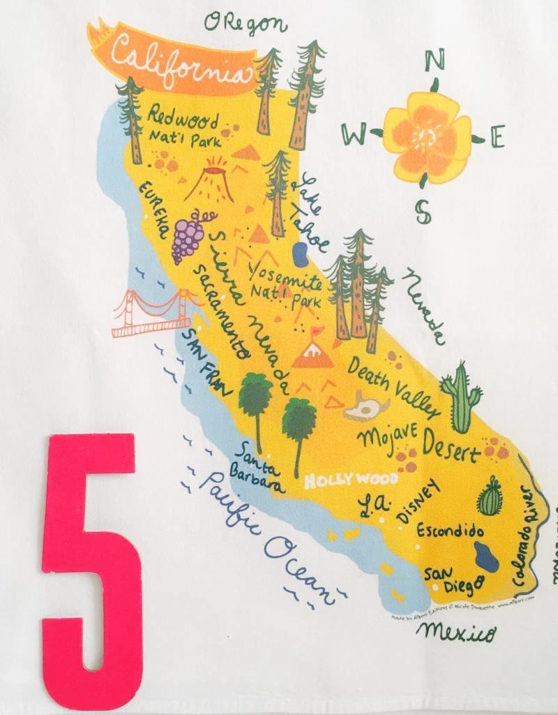 HELLO CALIFORNIA TOWEL