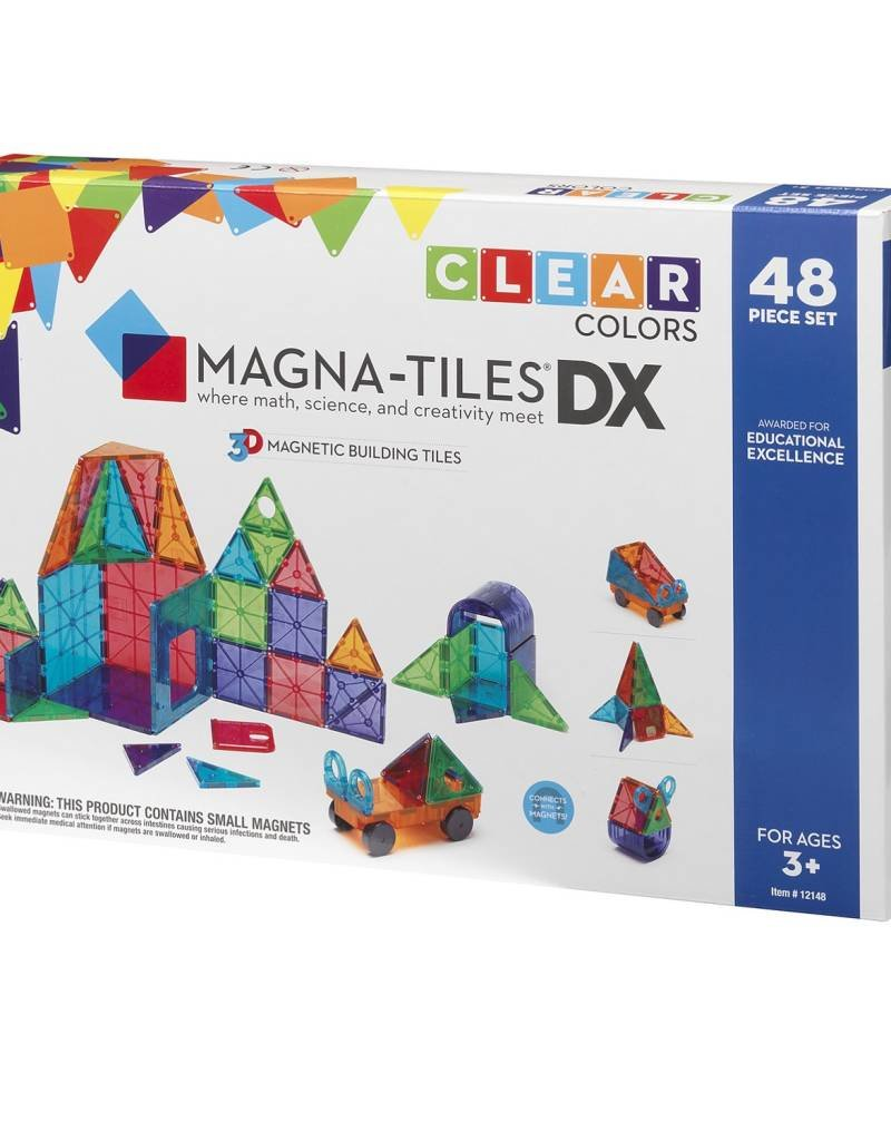 MAGNA-TILES CLEAR COLORS DX 48 PIECE SET