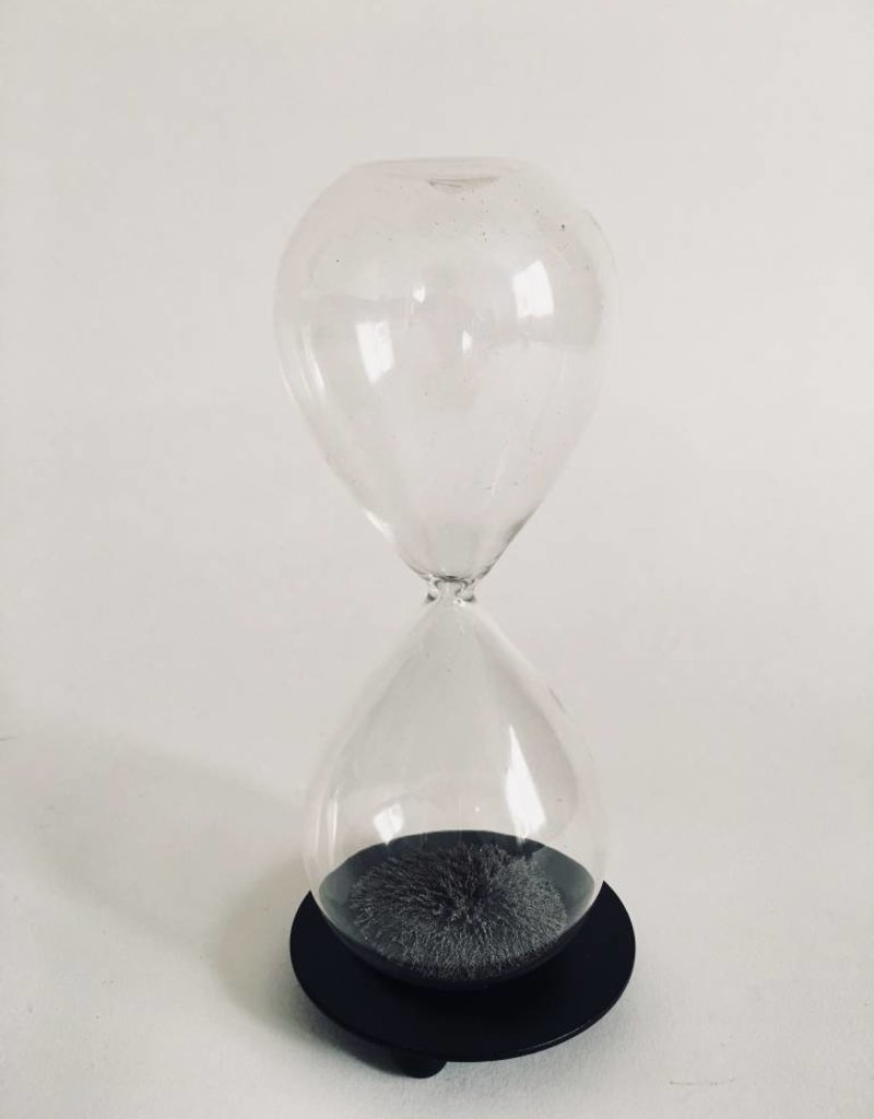 DECORATIVE GLASS MAGNETIC HOURGLASS
