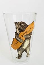 CALIFORNIA BEAR HUG PINT GLASS