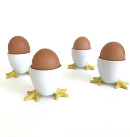 BIA Cordon Bleu Set of 4 Yellow Chicken Footed Egg Cups