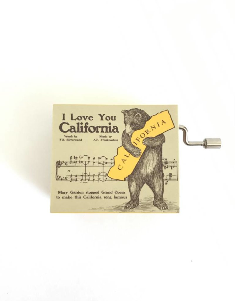 I Love You California Music Box