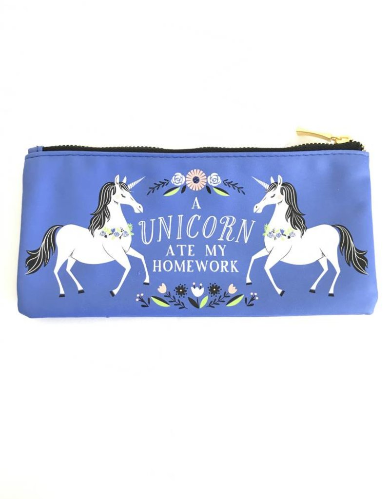 WASTE NOT PAPER Unicorn Ate My Homework Pouch